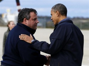 President Obama and Chris Christie together for Sandy.