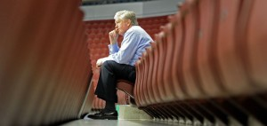 Brian Burke of the NHL's Toronto Maple Leafs